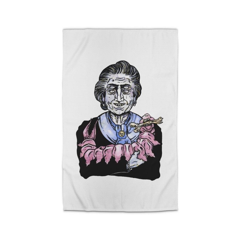 Old lady and her pet Home Rug by juliusllopis's Artist Shop
