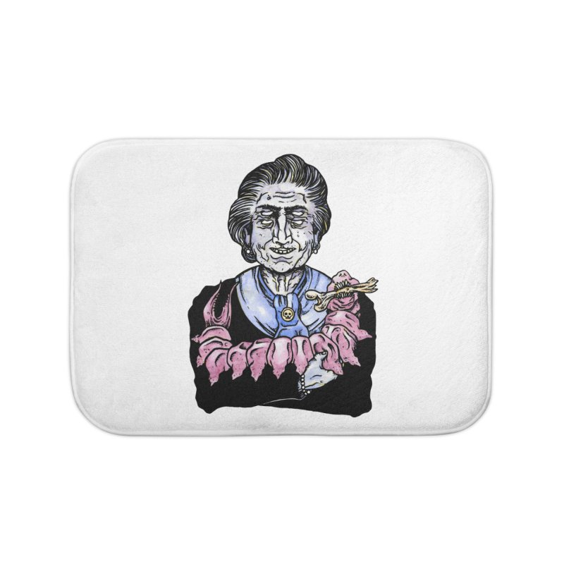 Old lady and her pet Home Bath Mat by juliusllopis's Artist Shop