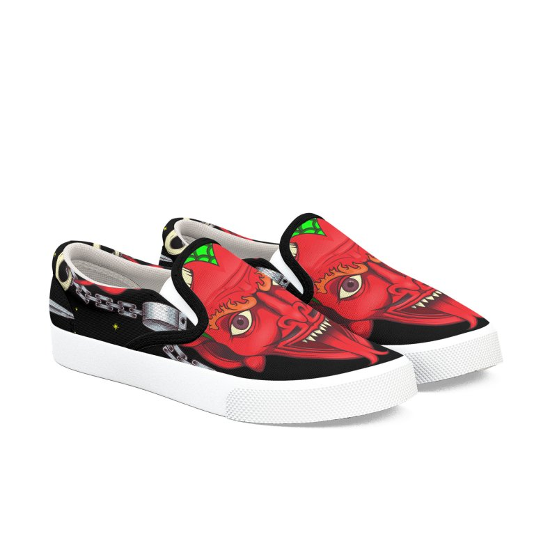Devil Men's Slip-On Shoes by juliusllopis's Artist Shop