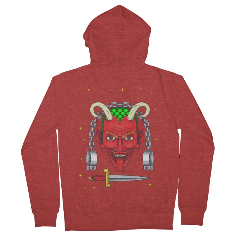 Devil Women's French Terry Zip-Up Hoody by juliusllopis's Artist Shop