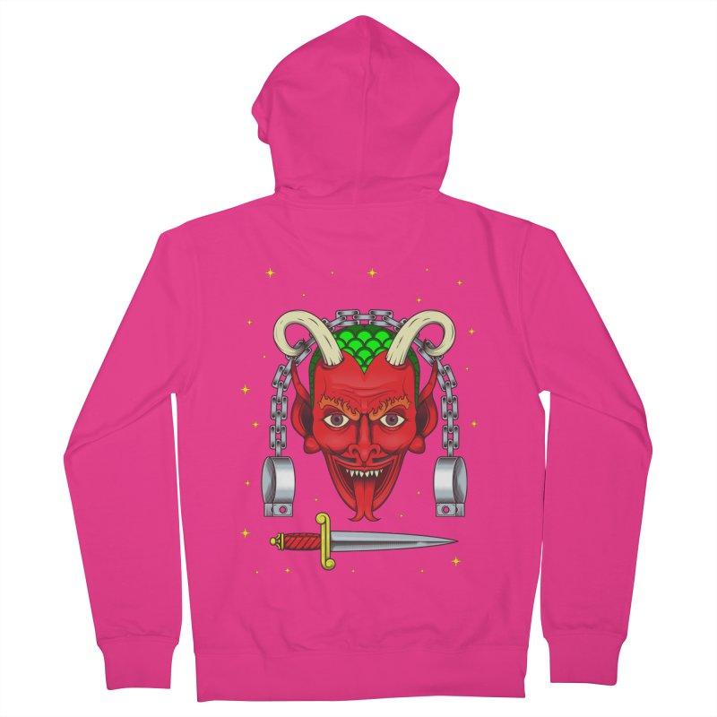 Devil Men's French Terry Zip-Up Hoody by juliusllopis's Artist Shop