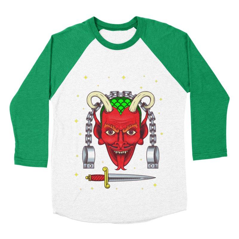 Devil Women's Baseball Triblend Longsleeve T-Shirt by juliusllopis's Artist Shop