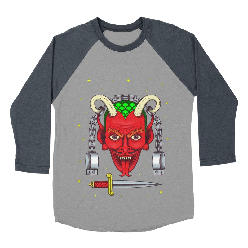Devil Men's Baseball Triblend Longsleeve T-Shirt by juliusllopis's Artist Shop
