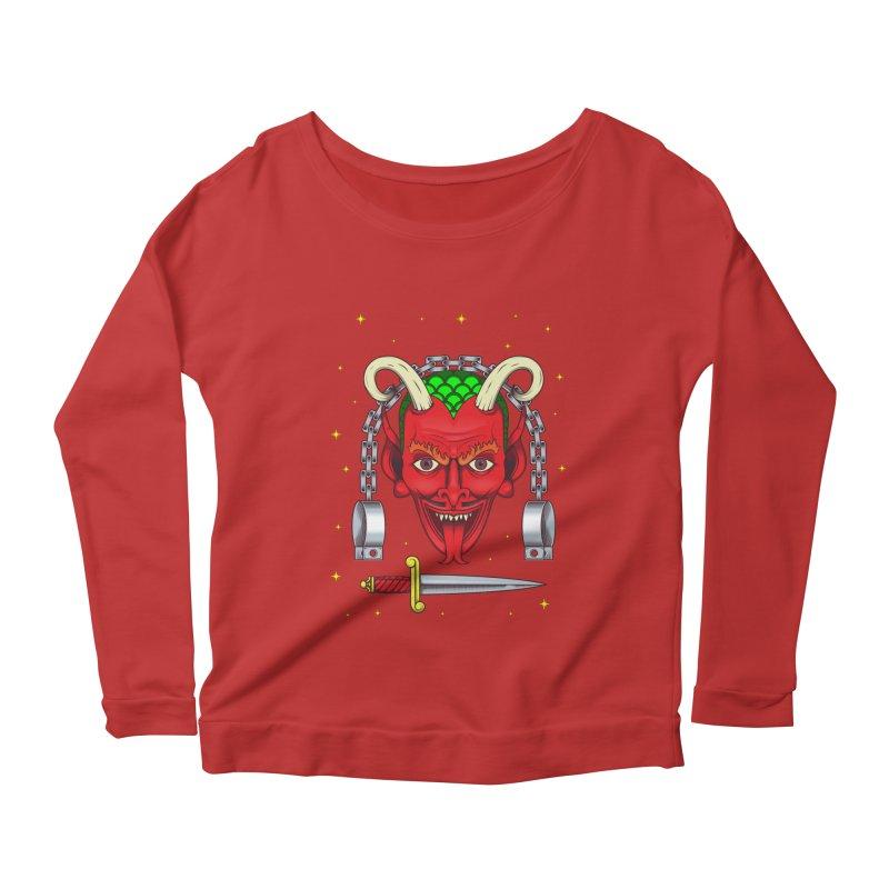 Devil Women's Scoop Neck Longsleeve T-Shirt by juliusllopis's Artist Shop