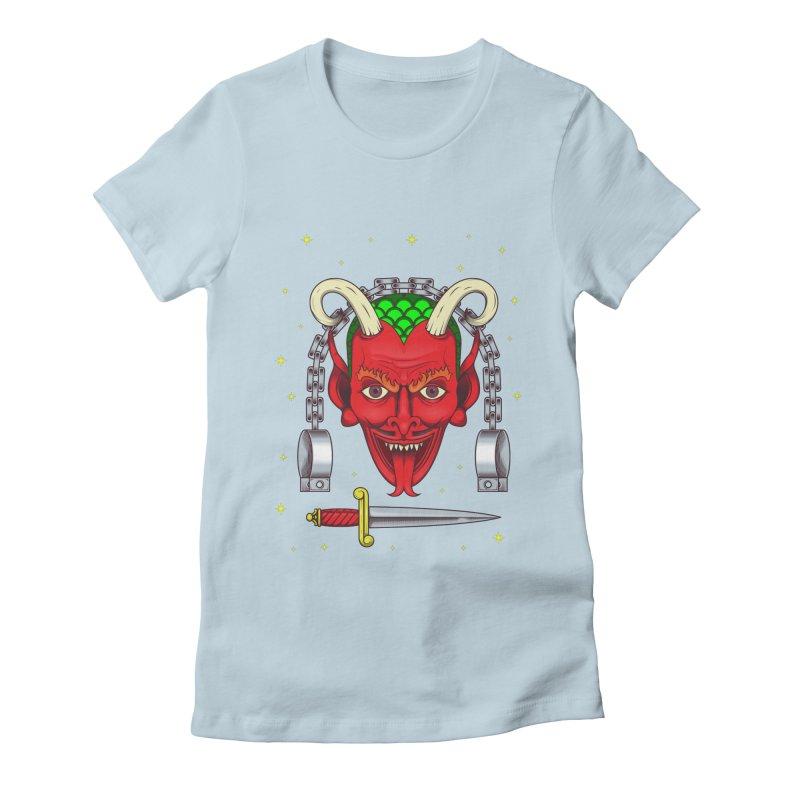 Devil Women's Fitted T-Shirt by juliusllopis's Artist Shop