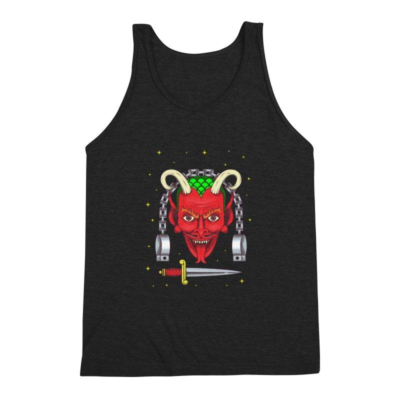 Devil Men's Triblend Tank by juliusllopis's Artist Shop