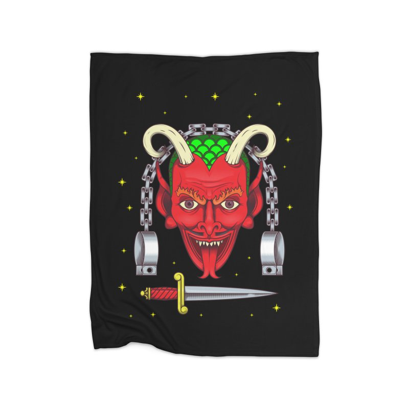 Devil Home Fleece Blanket Blanket by juliusllopis's Artist Shop