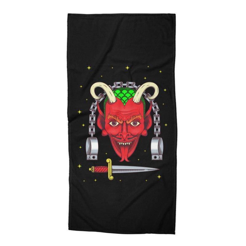 Devil Accessories Beach Towel by juliusllopis's Artist Shop