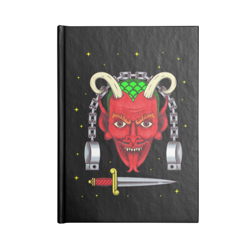 Devil Accessories Blank Journal Notebook by juliusllopis's Artist Shop