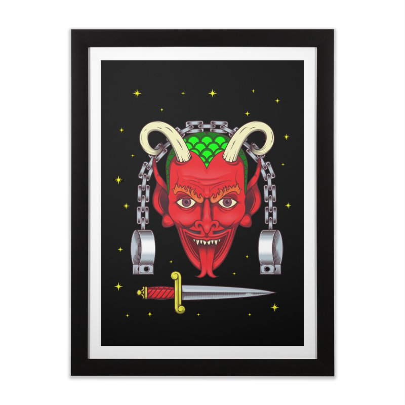 Devil Home Framed Fine Art Print by juliusllopis's Artist Shop