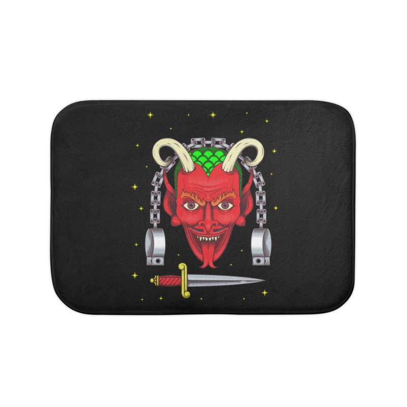 Devil Home Bath Mat by juliusllopis's Artist Shop