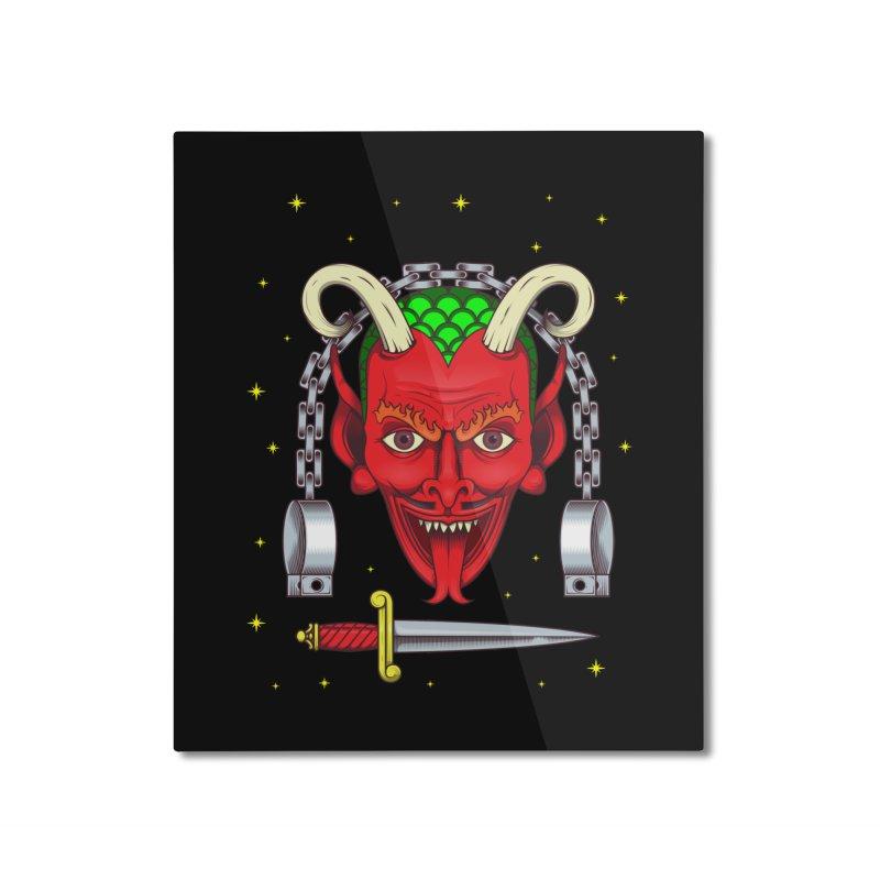 Devil Home Mounted Aluminum Print by juliusllopis's Artist Shop