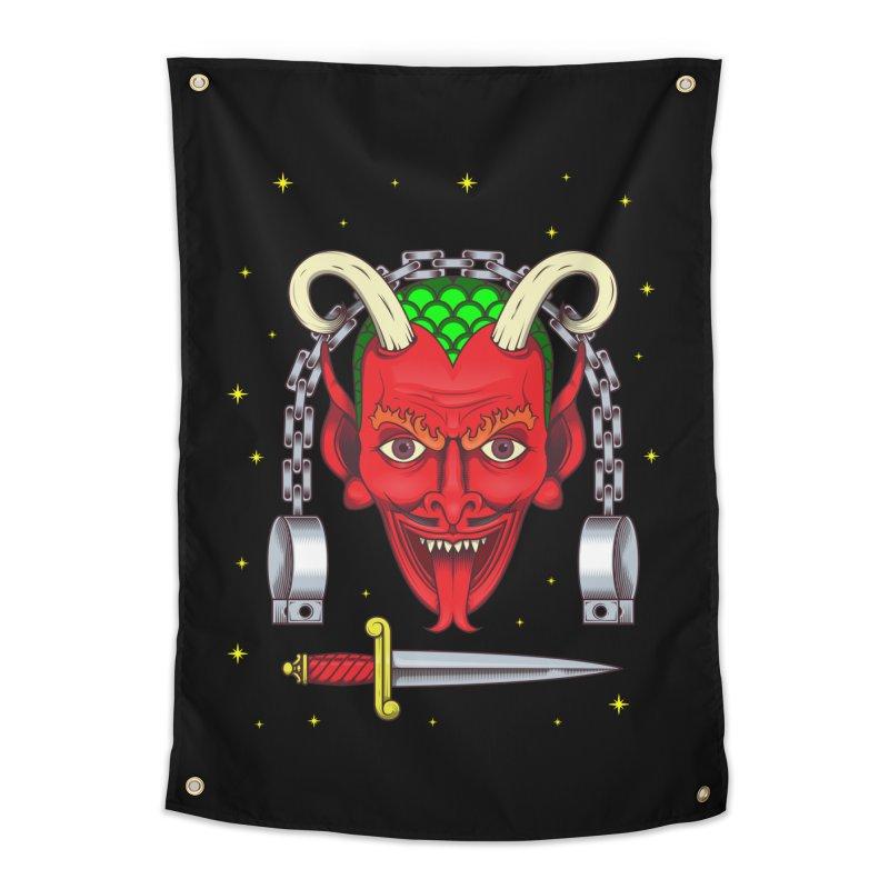 Devil Home Tapestry by juliusllopis's Artist Shop