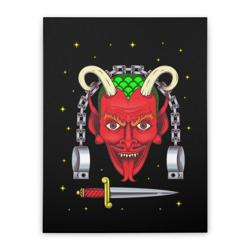 Devil Home Stretched Canvas by juliusllopis's Artist Shop