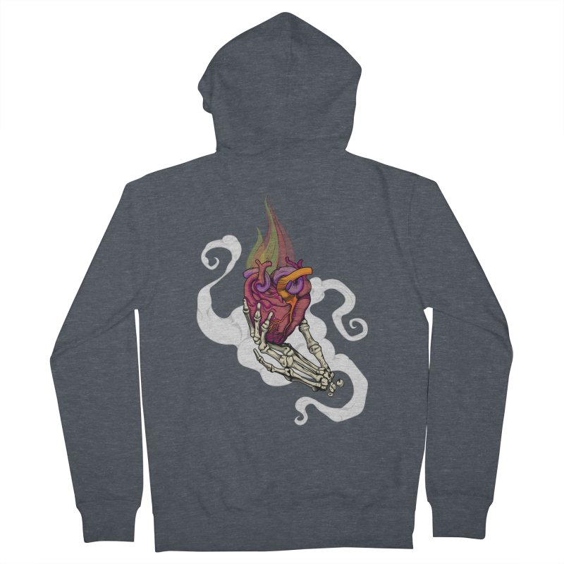 Sacred heart Men's Zip-Up Hoody by juliusllopis's Artist Shop
