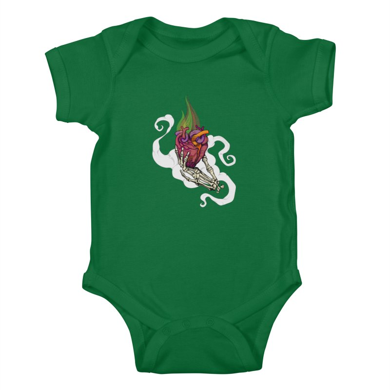 Sacred heart Kids Baby Bodysuit by juliusllopis's Artist Shop