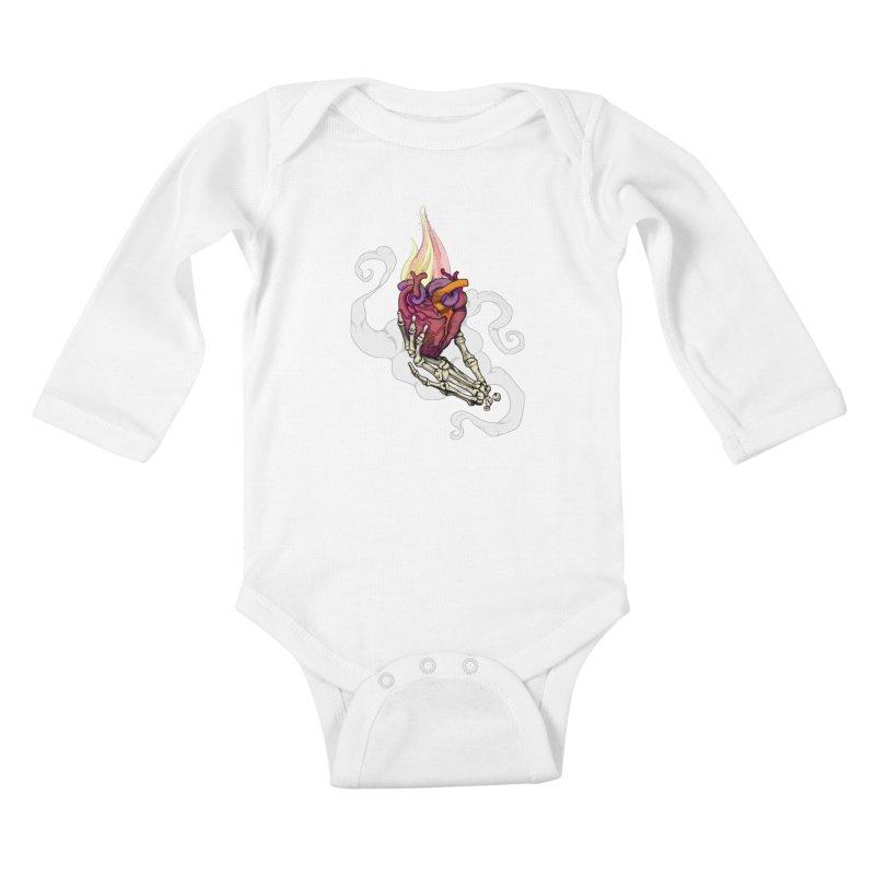 Sacred heart Kids Baby Longsleeve Bodysuit by juliusllopis's Artist Shop