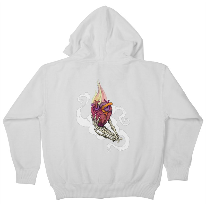 Sacred heart Kids Zip-Up Hoody by juliusllopis's Artist Shop