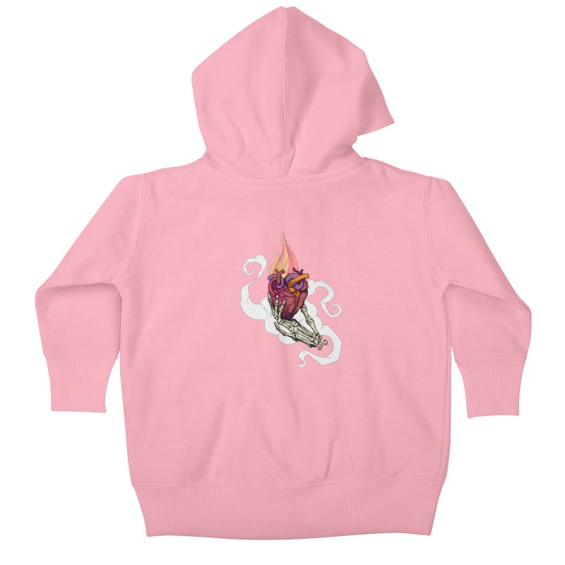 Sacred heart Kids Baby Zip-Up Hoody by juliusllopis's Artist Shop
