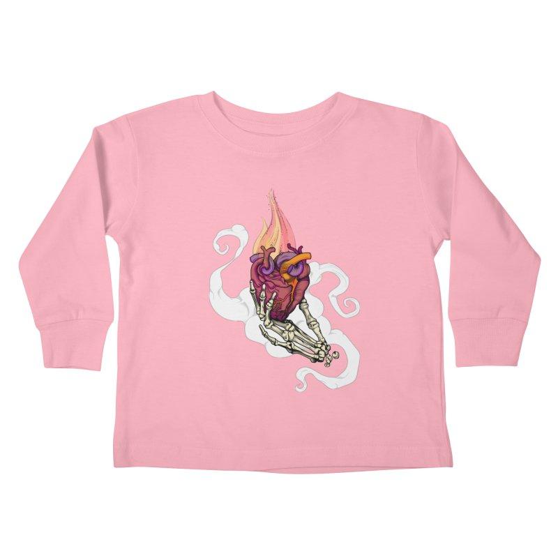 Sacred heart Kids Toddler Longsleeve T-Shirt by juliusllopis's Artist Shop