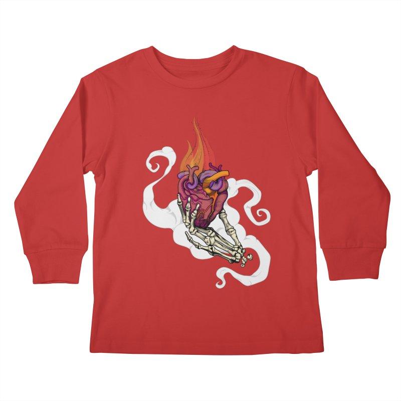 Sacred heart Kids Longsleeve T-Shirt by juliusllopis's Artist Shop