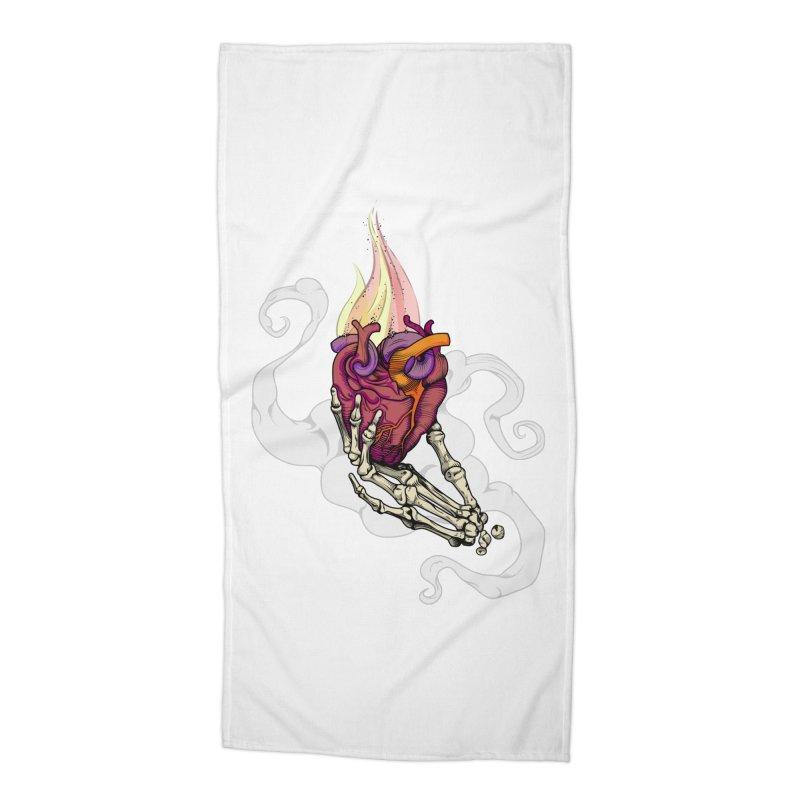 Sacred heart Accessories Beach Towel by juliusllopis's Artist Shop