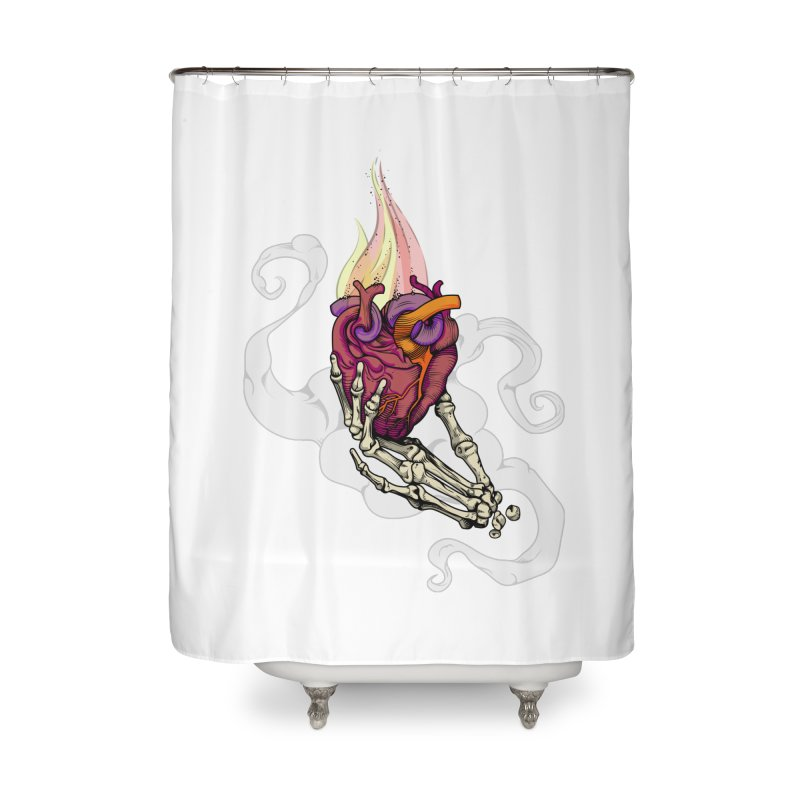 Sacred heart Home Shower Curtain by juliusllopis's Artist Shop
