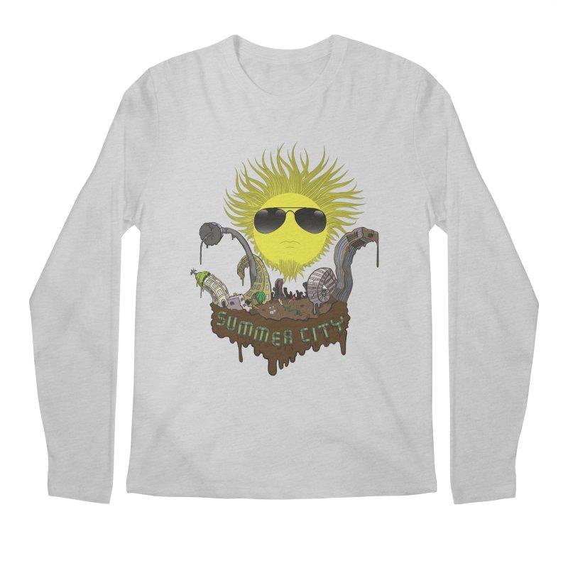 Summer city Men's Longsleeve T-Shirt by juliusllopis's Artist Shop