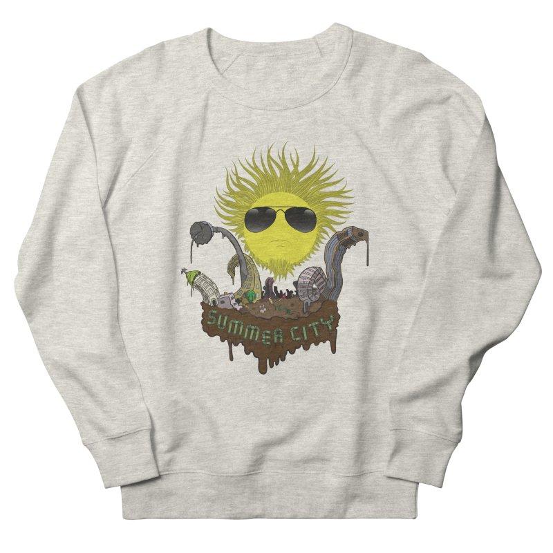 Summer city Men's French Terry Sweatshirt by juliusllopis's Artist Shop