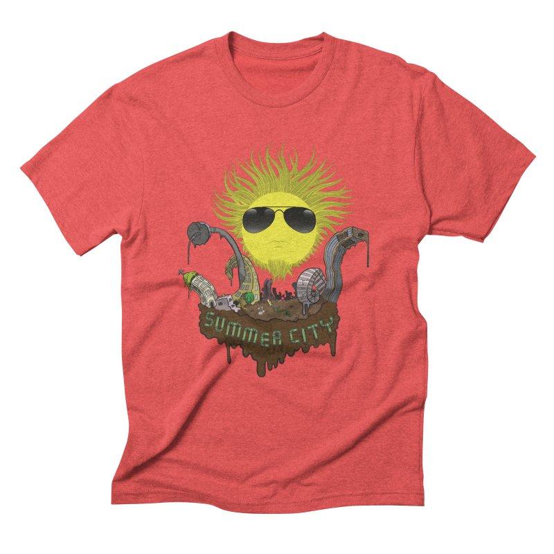 Summer city Men's Triblend T-Shirt by juliusllopis's Artist Shop
