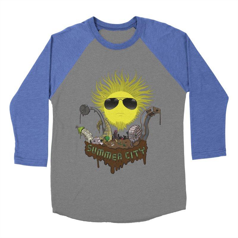 Summer city Women's Baseball Triblend T-Shirt by juliusllopis's Artist Shop