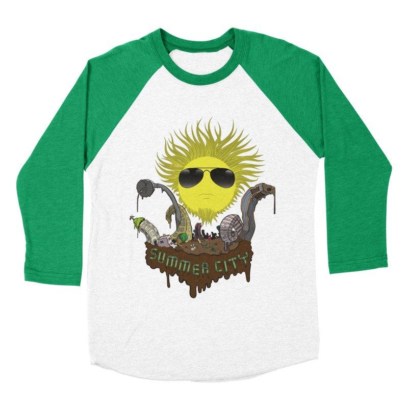 Summer city Men's Baseball Triblend T-Shirt by juliusllopis's Artist Shop
