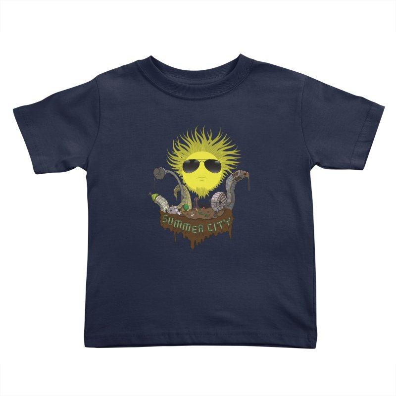 Summer city Kids Toddler T-Shirt by juliusllopis's Artist Shop