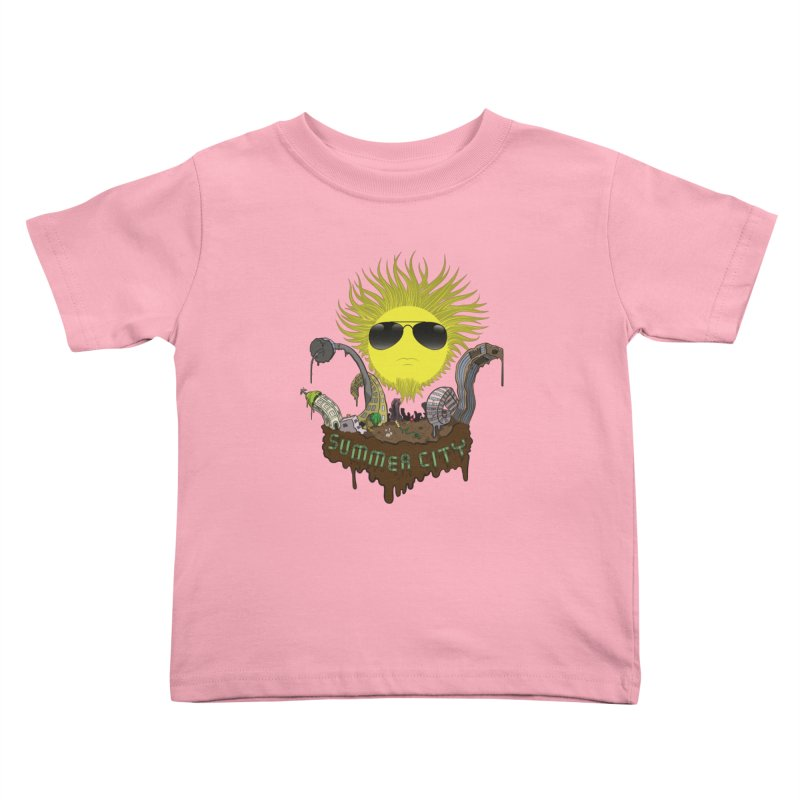 Summer city Kids Toddler T-Shirt by juliusllopis's Artist Shop
