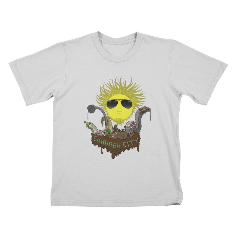 Summer city Kids T-Shirt by juliusllopis's Artist Shop