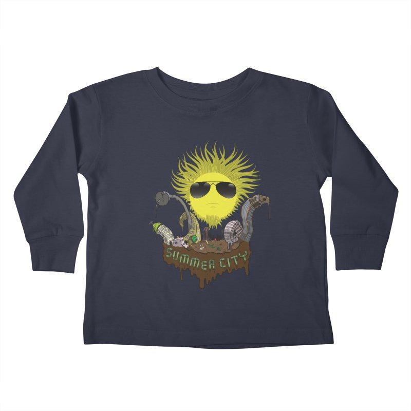 Summer city Kids Toddler Longsleeve T-Shirt by juliusllopis's Artist Shop