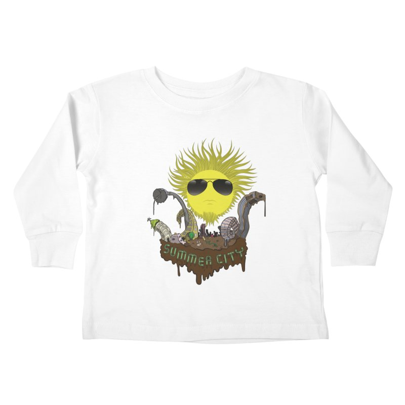 Summer city Kids Toddler Longsleeve T-Shirt by juliusllopis's Artist Shop