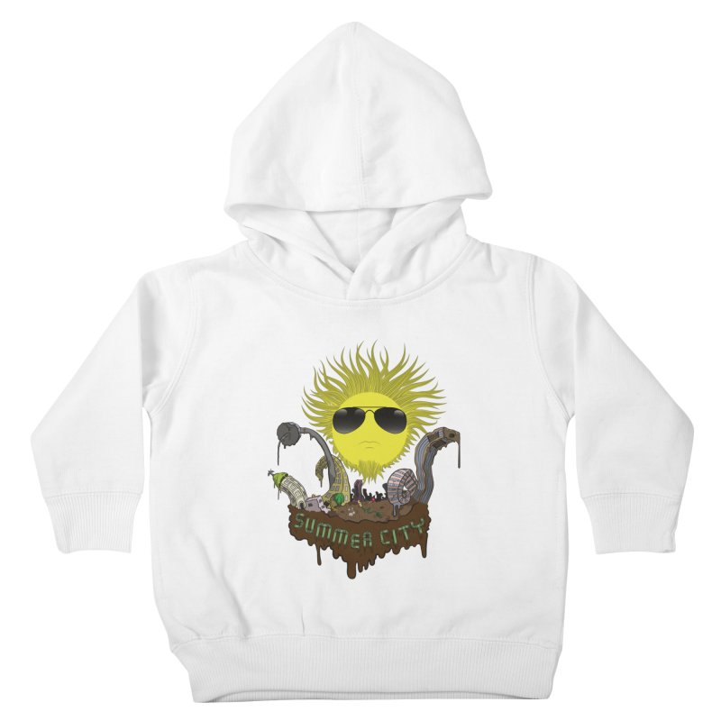 Summer city Kids Toddler Pullover Hoody by juliusllopis's Artist Shop