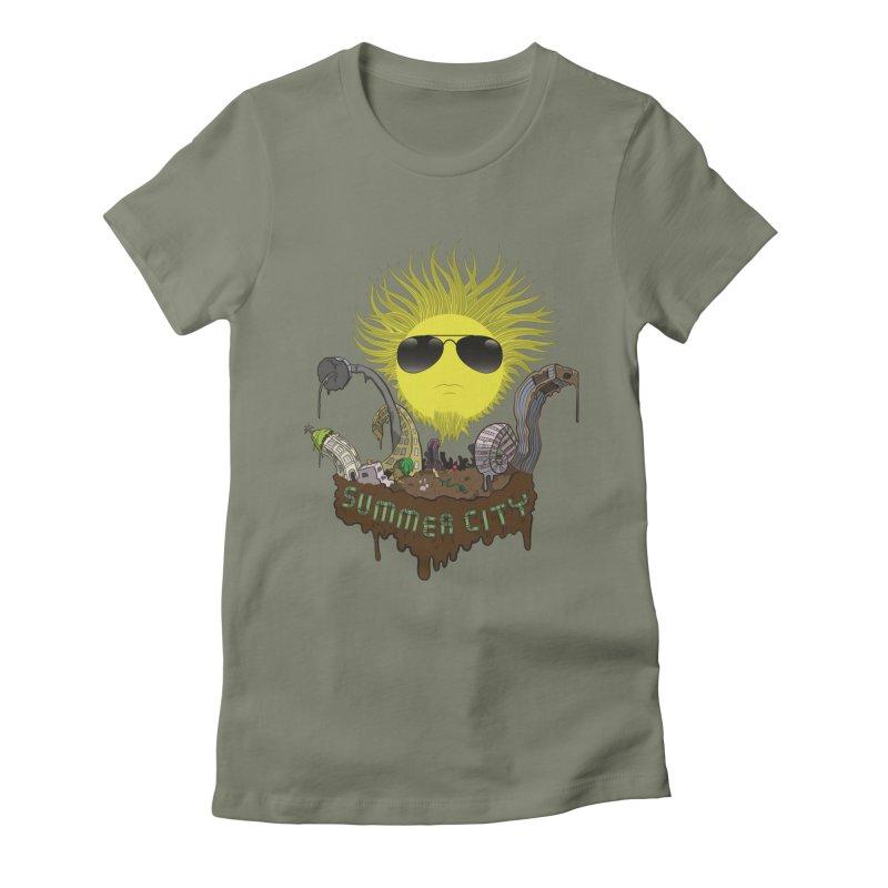 Summer city Women's Fitted T-Shirt by juliusllopis's Artist Shop