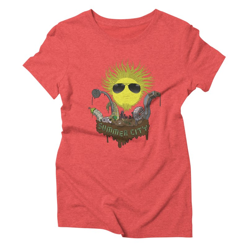 Summer city Women's Triblend T-shirt by juliusllopis's Artist Shop