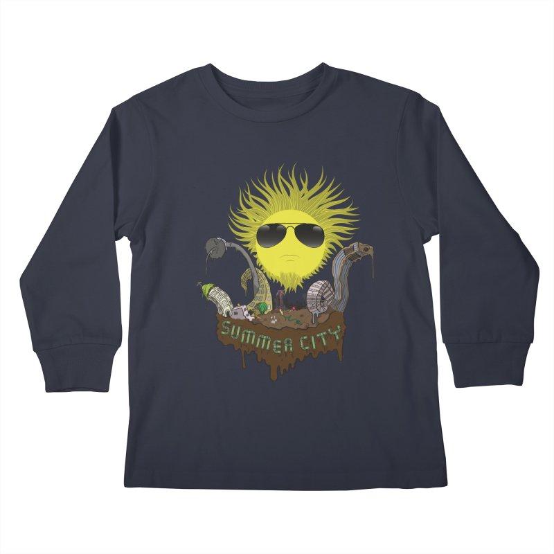 Summer city Kids Longsleeve T-Shirt by juliusllopis's Artist Shop