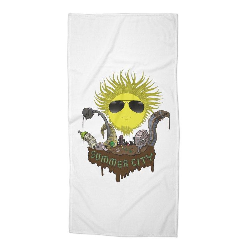 Summer city Accessories Beach Towel by juliusllopis's Artist Shop