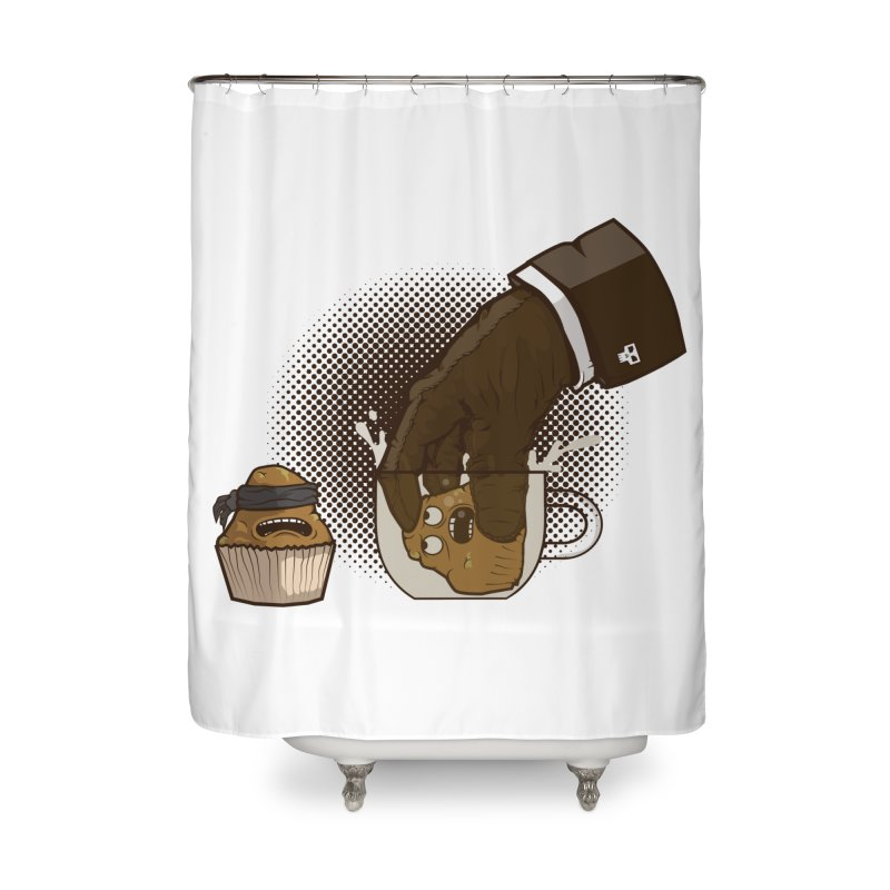 Breakfast killer Home Shower Curtain by juliusllopis's Artist Shop