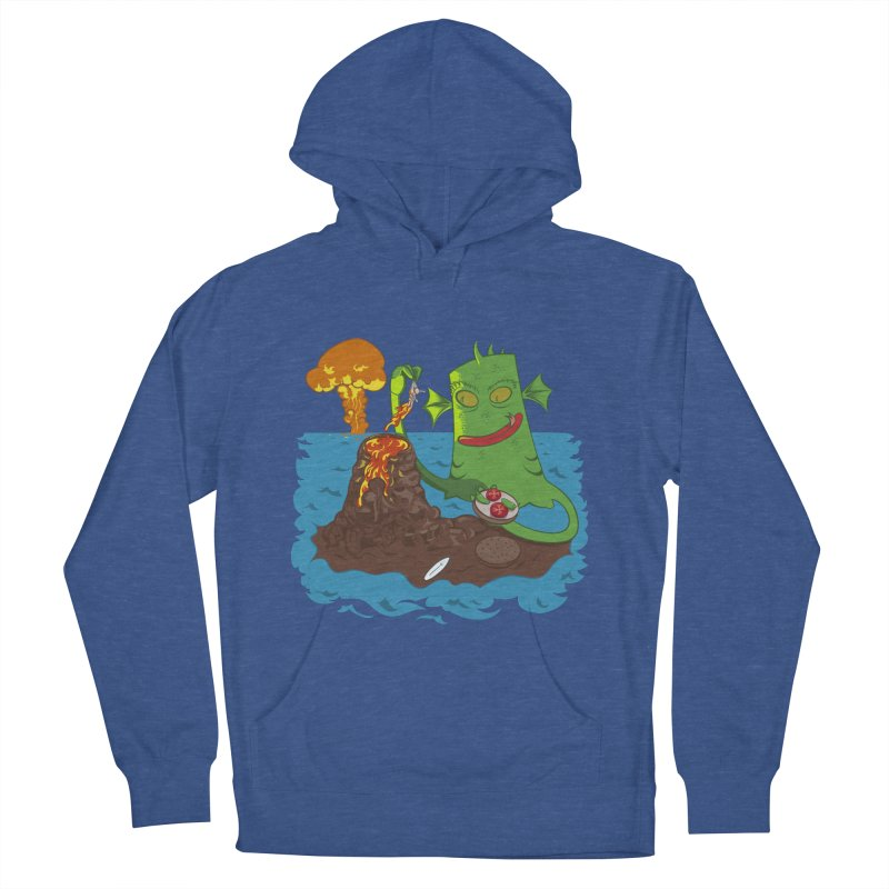 Sea monter burguer Women's French Terry Pullover Hoody by juliusllopis's Artist Shop