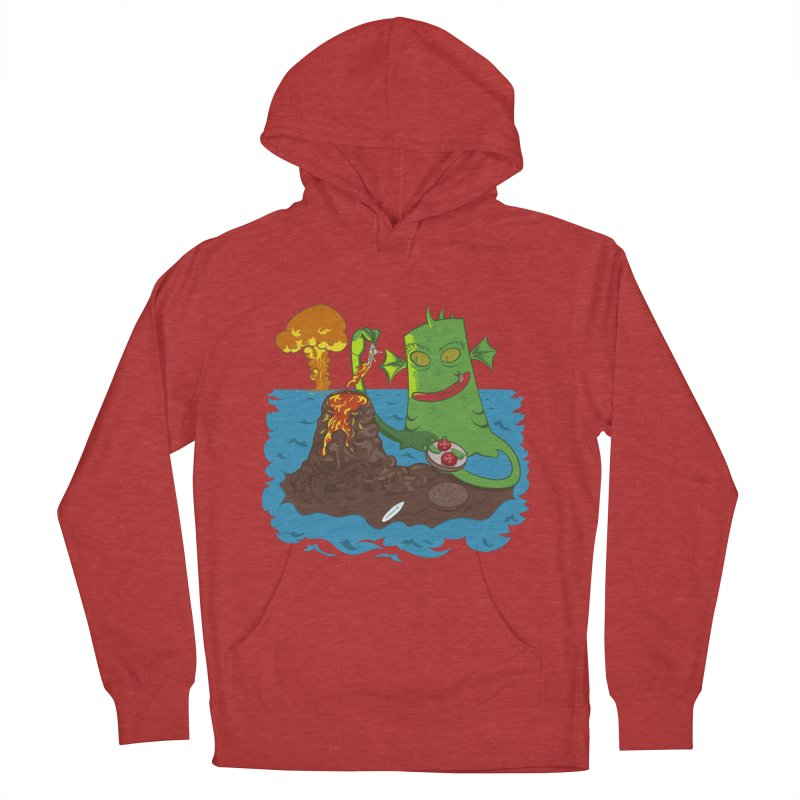 Sea monter burguer Men's Pullover Hoody by juliusllopis's Artist Shop