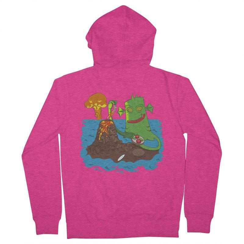 Sea monter burguer Women's Zip-Up Hoody by juliusllopis's Artist Shop