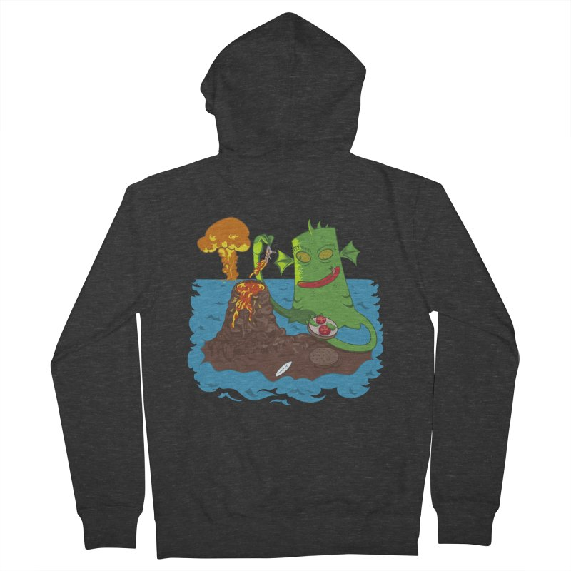 Sea monter burguer Men's Zip-Up Hoody by juliusllopis's Artist Shop
