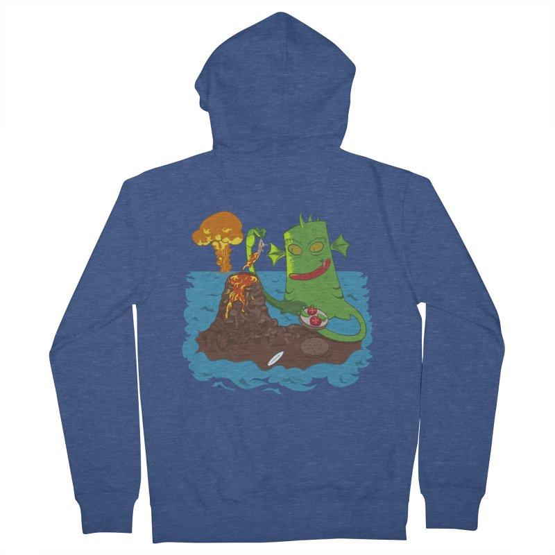 Sea monter burguer Men's Zip-Up Hoody by juliusllopis's Artist Shop