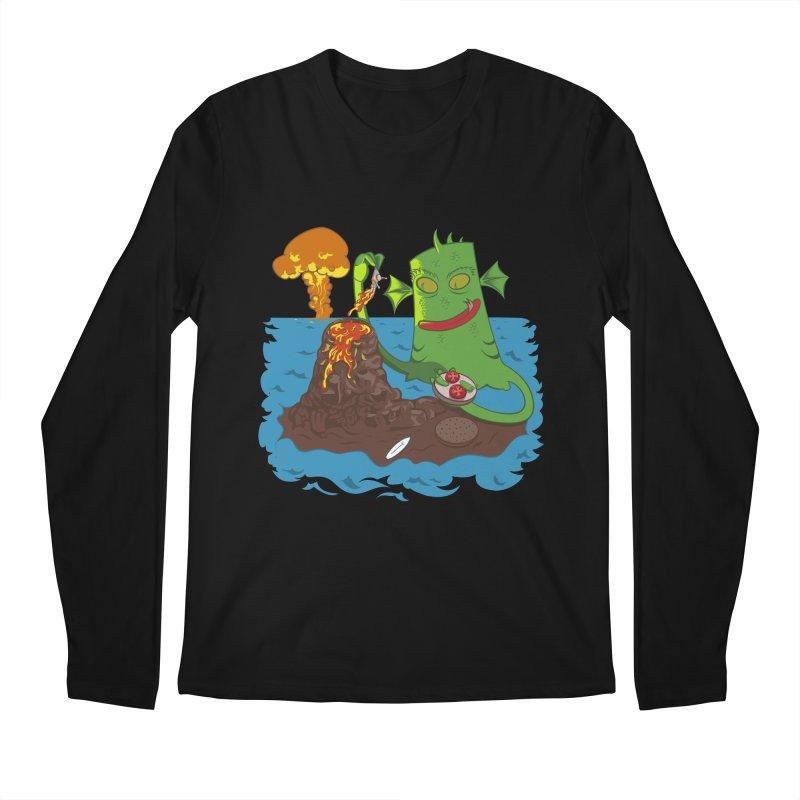 Sea monter burguer Men's Regular Longsleeve T-Shirt by juliusllopis's Artist Shop