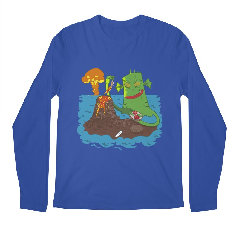 Sea monter burguer Men's Regular Longsleeve T-Shirt by juliusllopis's Artist Shop